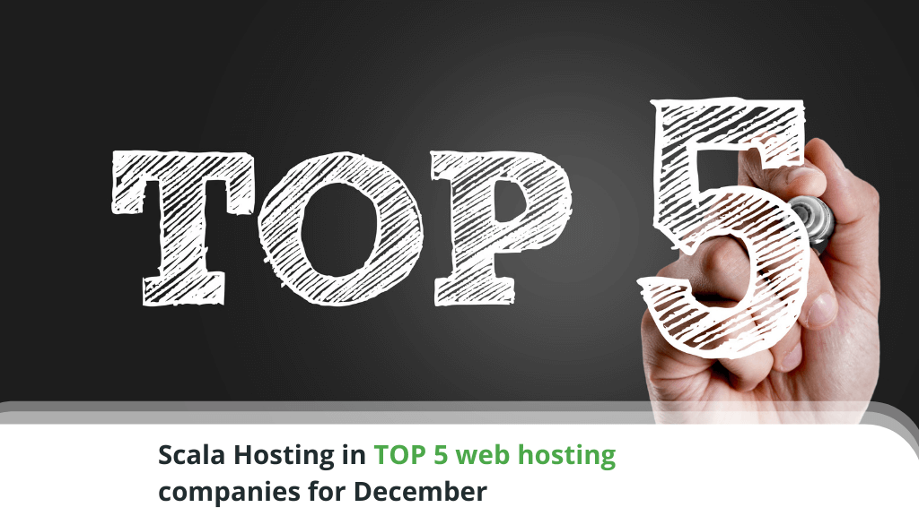 Scala Hosting in TOP 5 web hosting companies for December