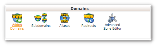 What is an addon domain in cPanel?