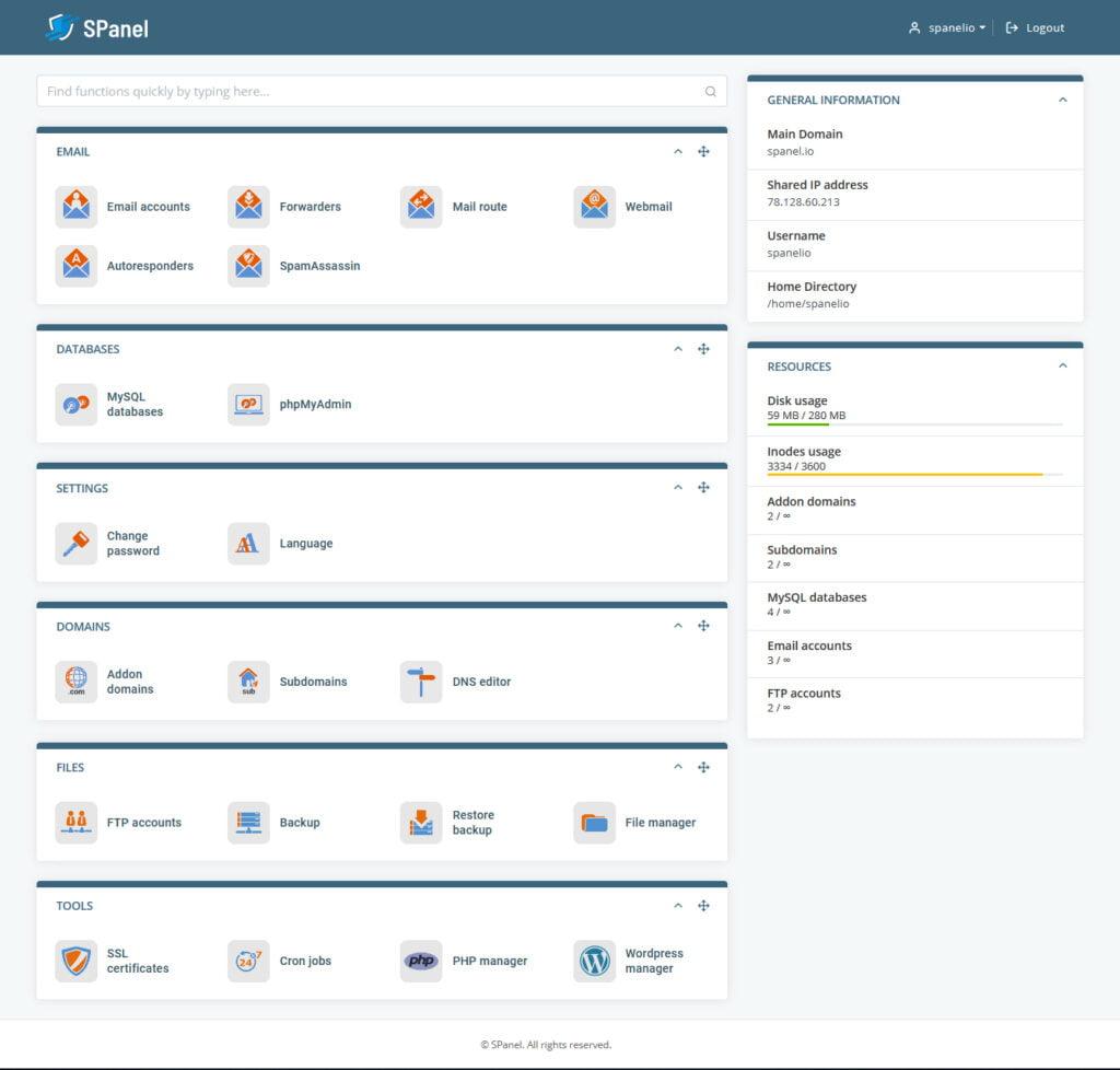 SPanel v2: A Next-Generation Hosting Platform