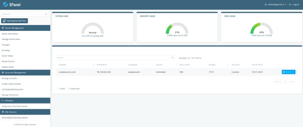 SPanel: A Next-Generation Hosting Platform