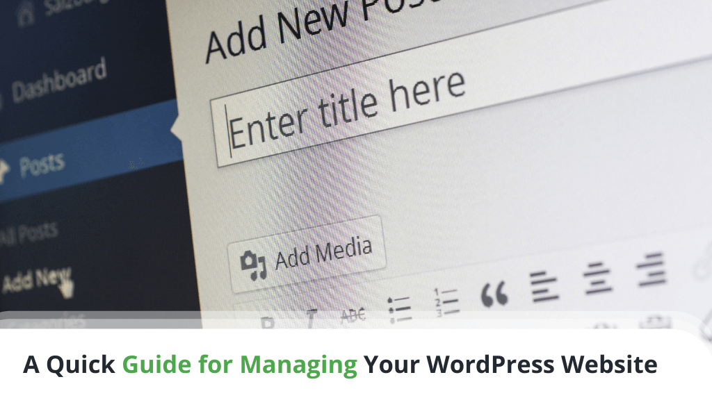 A Quick Guide for Managing Your WordPress Website