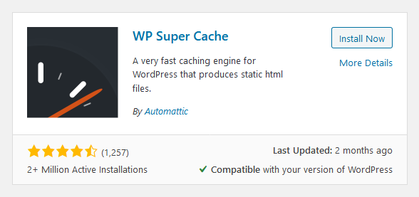 Optimize Website Speed with WP Super Cache