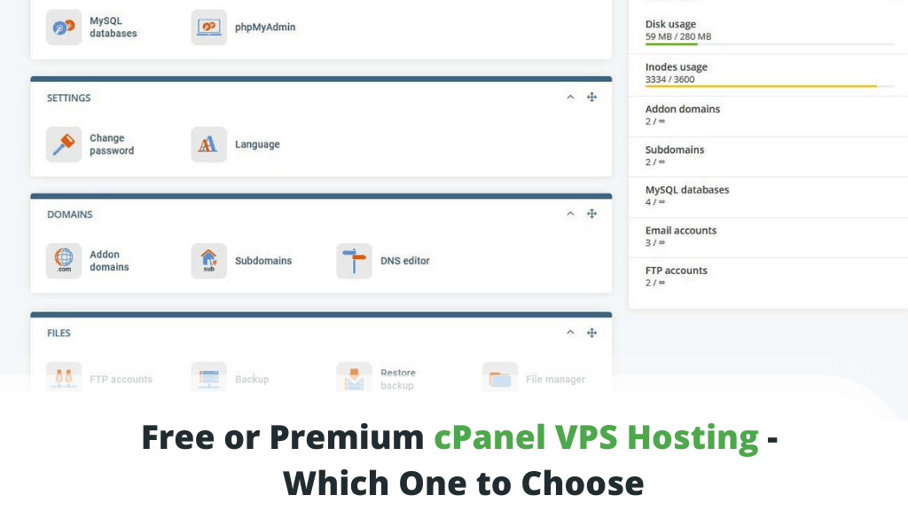 Free or Premium cPanel VPS Hosting - Which One to Choose