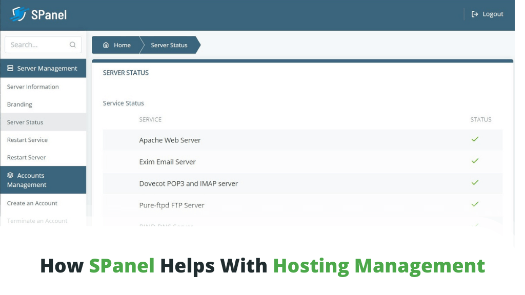 How SPanel Helps With Hosting Management?