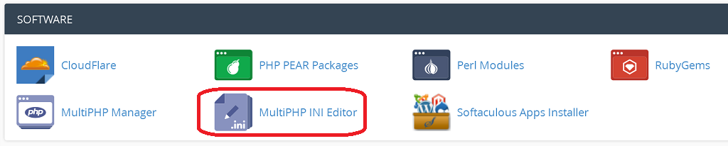 custom php ini manage