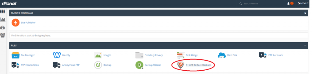 How to find R1soft in cPanel