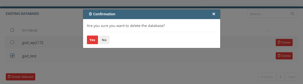 How to Create or Delete a MySQL Database or User