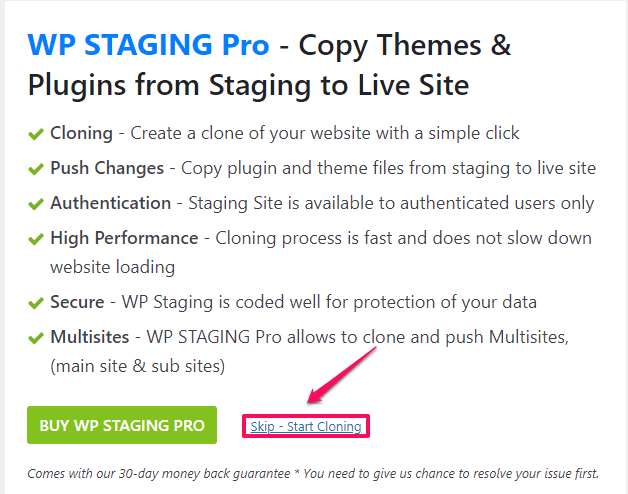 How to Create a Staging Site