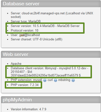 How To Check the MySQL Version on the Server Hosting My Account?