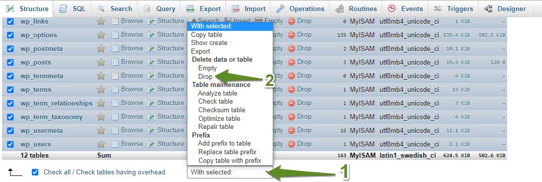 How Can I Empty a MySQL Database?