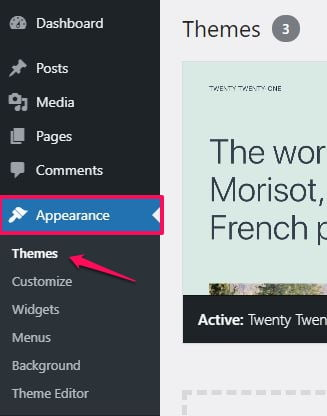 WordPress — How to Install a New Theme from the WordPress Dashboard