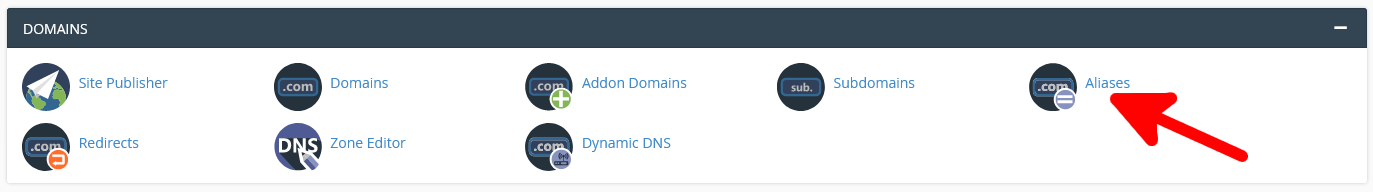 Park a domain registered with Scalahosting