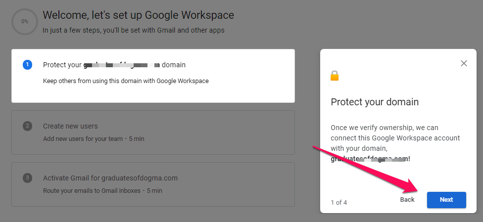 Create my Workspace Email account