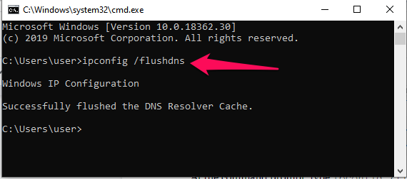 How to clear the local DNS cache in Window 7, 8 and 10?