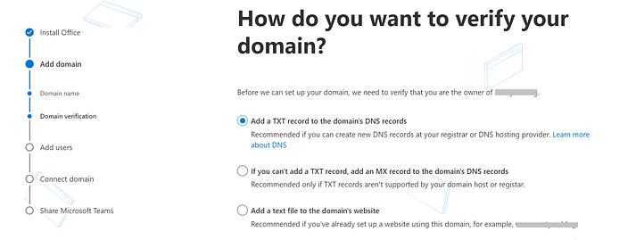 Set up my Workspace Email domain with Microsoft 365