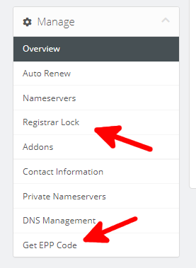 Transfer my domain away from ScalaHosting