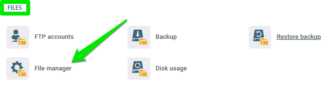 How to Upload a File Using the File Manager?