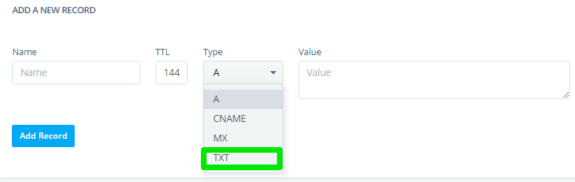 How to Create AAAA, SRV, and TXT Records?