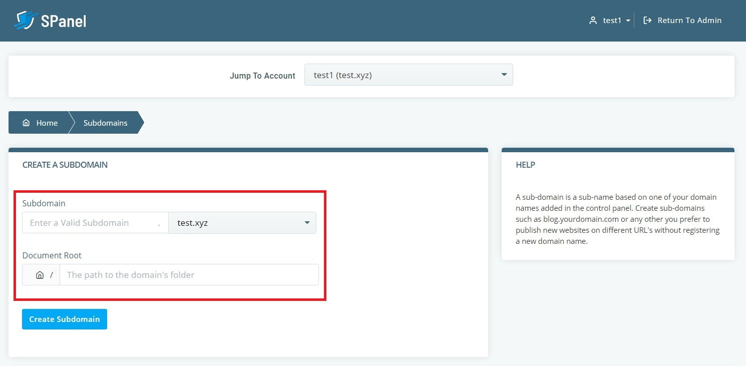 How to Create a Site on a Subdomain
