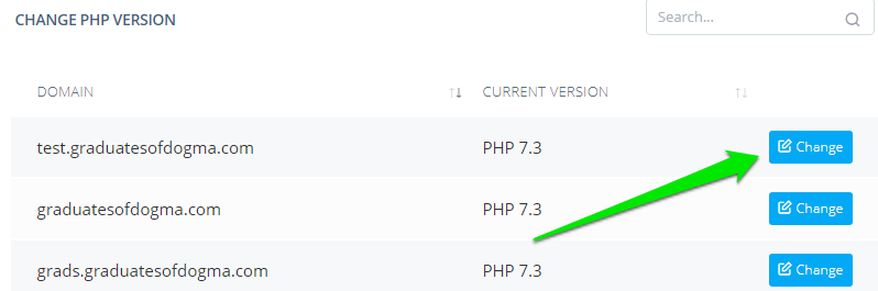 How to Change the PHP Version for Your Site?